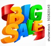 big sale inscription from color ...   Shutterstock .eps vector #502820143