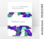 geometric background template... | Shutterstock .eps vector #502822483