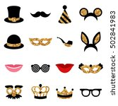 set of carnival icons and... | Shutterstock .eps vector #502841983