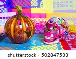 day of the dead and halloween | Shutterstock . vector #502847533