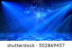 Blue Disco Dance Floor With...