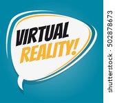 virtual reality retro speech...   Shutterstock .eps vector #502878673