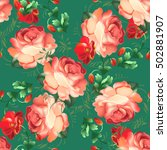 seamless pattern in russian...   Shutterstock .eps vector #502881907