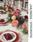 elegant wedding table with...   Shutterstock . vector #502887847