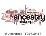 ancestry word cloud concept | Shutterstock . vector #502910497