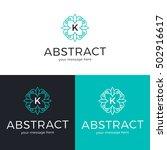 vector geometric logo design.... | Shutterstock .eps vector #502916617