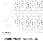 black and white molecular... | Shutterstock .eps vector #502928287