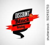 discount black friday  design... | Shutterstock .eps vector #502933753