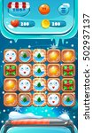 cartoon winter game ui.screen...