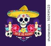 mexican dia de los muertos  day ... | Shutterstock .eps vector #502939123