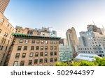 buildings and roof garden in... | Shutterstock . vector #502944397