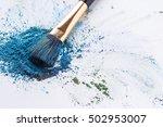 crisp blue shadows with brush... | Shutterstock . vector #502953007