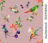 watercolor hand drawn seamless... | Shutterstock . vector #502958503