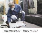 metallurgy industry. factory... | Shutterstock . vector #502971067