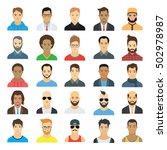 male avatars | Shutterstock .eps vector #502978987