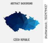czech republic map in geometric ...   Shutterstock .eps vector #502979437