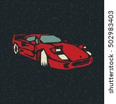 race sport car. vector... | Shutterstock .eps vector #502983403
