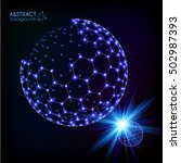 blue shining cosmic hexagonal... | Shutterstock .eps vector #502987393