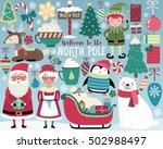 christmas illustration  cute... | Shutterstock .eps vector #502988497