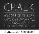 uppercase letters  numbers and... | Shutterstock .eps vector #503002837