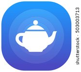 teapot purple   blue circular...