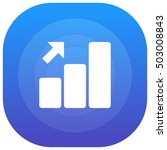 growth bar chart purple   blue...