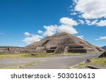 the pyramid of the sun is the... | Shutterstock . vector #503010613