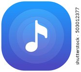 music purple   blue circular ui ...