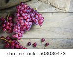Bunches Fresh Ripe Red Grapes - Fine Art prints