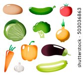 colored stylized simple plastic ... | Shutterstock .eps vector #503036863