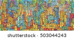 background of cityscape.... | Shutterstock . vector #503044243