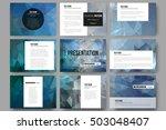 set of 9 templates for... | Shutterstock .eps vector #503048407