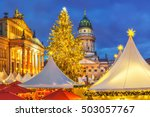 Stock photo christmas market french church and konzerthaus in berlin germany 503057767