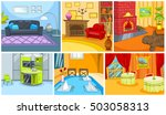 hand drawn vector cartoon set... | Shutterstock .eps vector #503058313