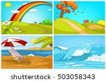 Hand Drawn Vector Cartoon Set...