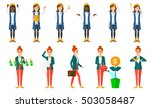 successful business woman with... | Shutterstock .eps vector #503058487