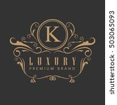 logo luxury elegant design... | Shutterstock .eps vector #503065093