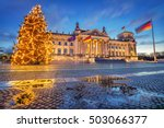 reichstag christmas tree at... | Shutterstock . vector #503066377