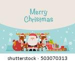 vector illustration   santa... | Shutterstock .eps vector #503070313