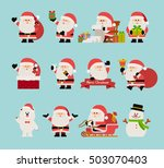 vector illustration   christmas ... | Shutterstock .eps vector #503070403