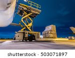 loading cargo on the plane at... | Shutterstock . vector #503071897
