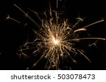 fire sparklers on black... | Shutterstock . vector #503078473