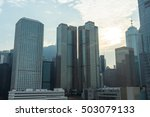 modern business skyscrapers in... | Shutterstock . vector #503079133