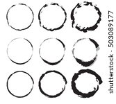 set of hand drawn circles ... | Shutterstock .eps vector #503089177
