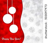 christmas background with ball... | Shutterstock .eps vector #503097973