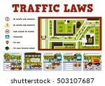 traffic laws. poster for school ... | Shutterstock .eps vector #503107687