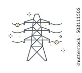 color line  electricity... | Shutterstock .eps vector #503111503