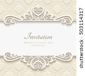 elegant background with border... | Shutterstock .eps vector #503114317