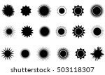 sun vector burst icon set sol... | Shutterstock .eps vector #503118307