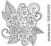 zentangle abstract flowers.... | Shutterstock .eps vector #503129323